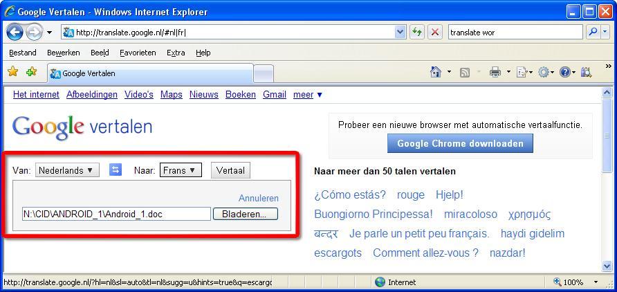 Word-document vertalen | Computer Idee