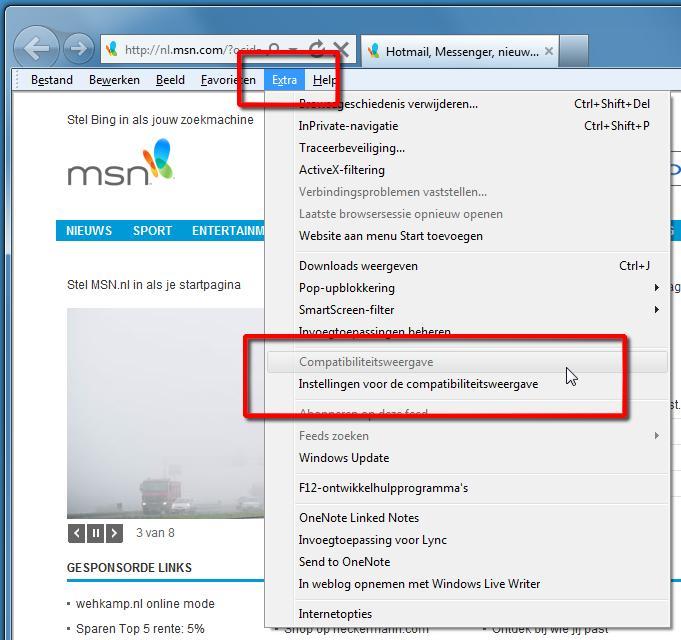 Webmail werkt niet met Internet Explorer 9 | Computer Idee